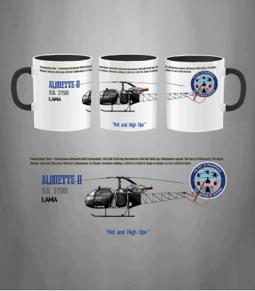 ALOUETTE II Lama Mug