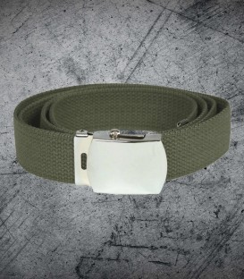 Military buckle cotton web Belt