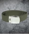 Military buckle cotton web Belt