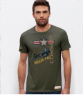 Military T-shirt F-4U Corsair NAVY