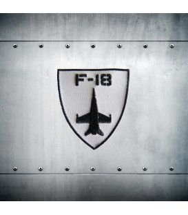 F-18 Black embroidery patch
