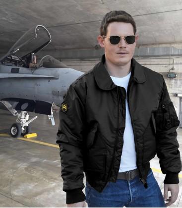 CWU Black Pilot Jacket