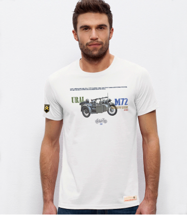 Military T-shirt URAL M-72 Motorcycle