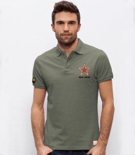 Military polo ARMY REDS