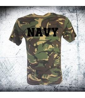 Military T-shirt _BRITISH NAVY CAMO