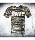 Military T-shirt URBAN NAVY CAMO