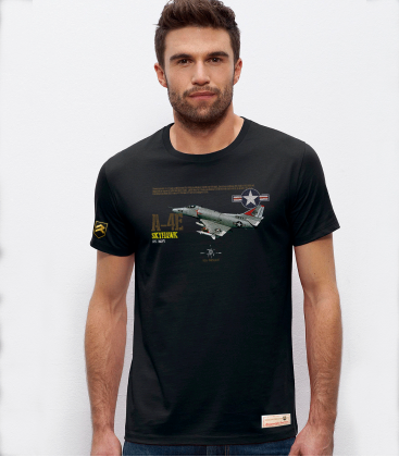 Military T-Shirt A-4 E Skyhawk USAF