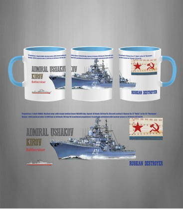 Russian Destroyer Admiral Ushakov Mug