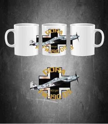 German Fighter FW-190 D9 DORA Mug