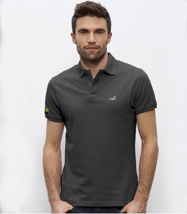 Embroidered Eurofighter emblem polo