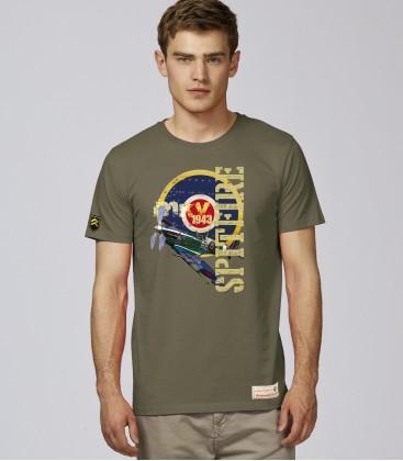 Military T-Shirt SPITFIRE MK5 RAF WWII