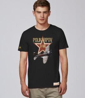 Military T-Shirt POLIKARPOV I16 WWII