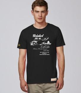 Military T-Shirt HEINKEL He111 WWII Retro