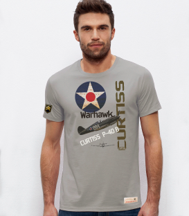 Military T-Shirt Curtiss P-40B USAF